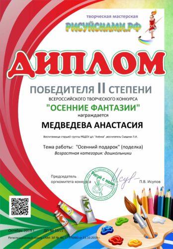 диплом Медведевой Анастасии